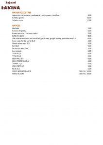 Zajazd Łakina menu strona 2