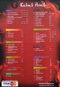 Kebap Point Wągrowiec menu