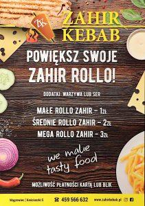 Menu Zahir Kebab Wągrowiec 01